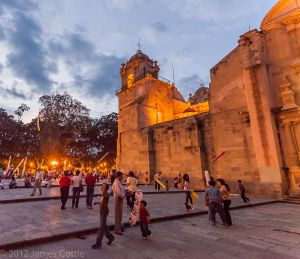 Cathedral at Sunset, Oaxaca